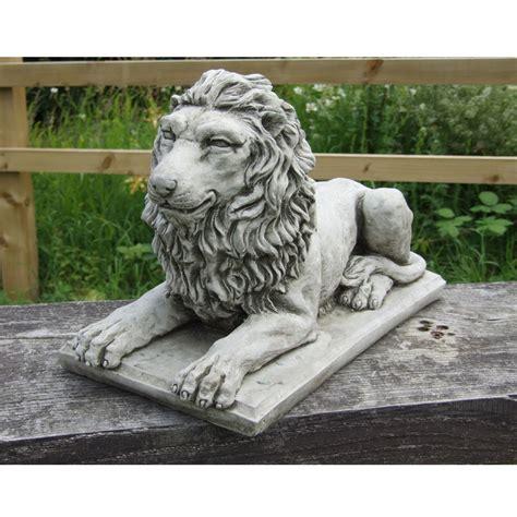 image gallery lion statue home decor lion statue on plinth cast stone garden ornament patio