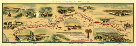 pony express 1860s pony express map dinosaur cowboys