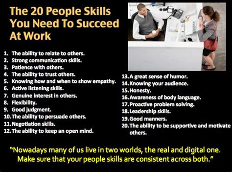 Skill With Poeple the 20 skills you need to succeed at work