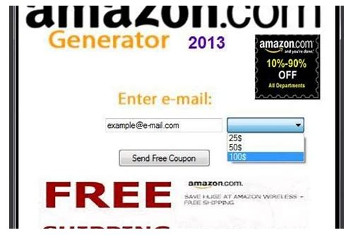 amazon coupon code generator