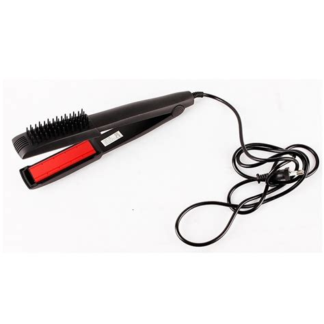 Catok Sisir ceramic hair styler stick with comb catok