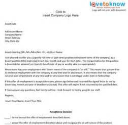 Business Letter Example Offer free printable offer letter sample form generic