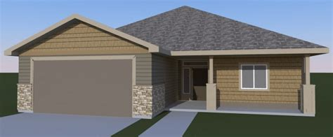 Juniper 3 Car Garage Plans by Coldwell Heights Subdivision 171 Design Build Idaho