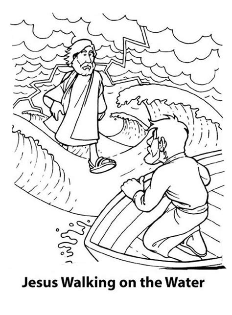 coloring pages for jesus walking on water walks on water coloring pages coloring home