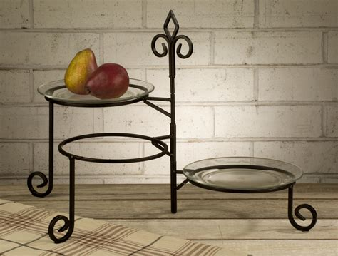 buffet plate stand displaycollections keller 3 tier swivel plate stand