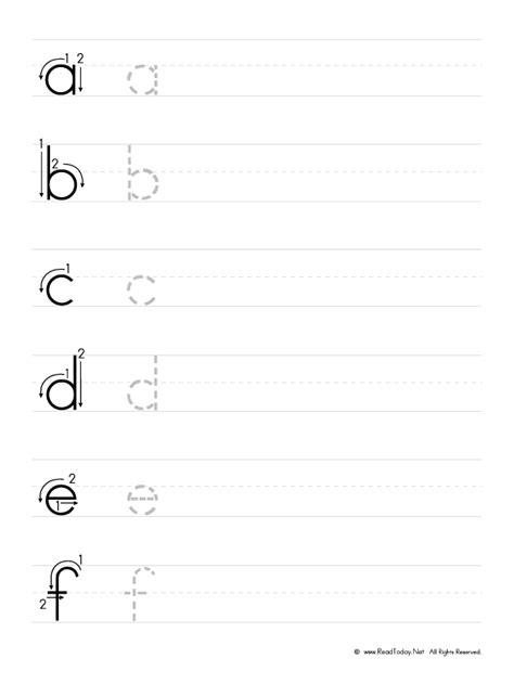 printable lowercase handwriting worksheets practice writing lowercase letters worksheet