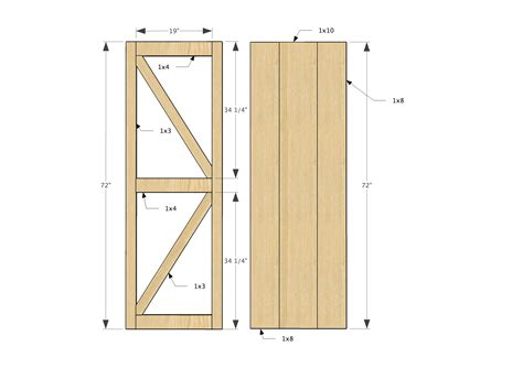 How To Build Barn Doors Door Plans Quot Quot Sc Quot 1 Quot St Quot Quot Rhinovault