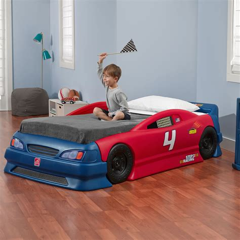 children s race car bed stock car convertible bed kids bed step2