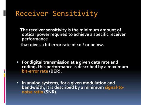 avalanche photodiode receivers can detect bits of transmitted data by receiving ppt fiber optic receiver powerpoint presentation id 2729946
