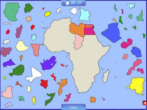 africa map puzzle africa puzzle map app for iphone education
