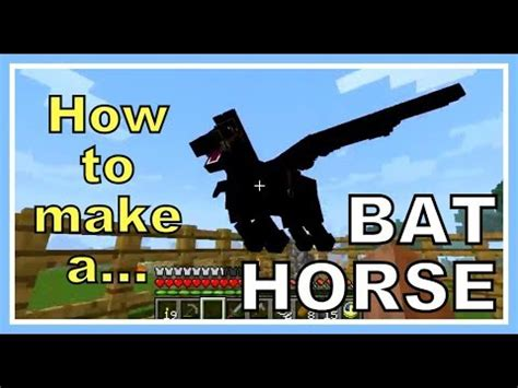what can you make with pony minecraft mo creatures how to make a bat