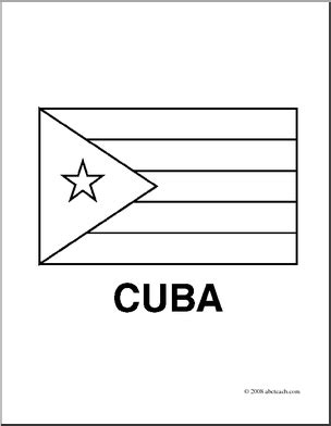 Clip Art Flags Cuba Coloring Page Abcteach Cuban Flag Coloring Page