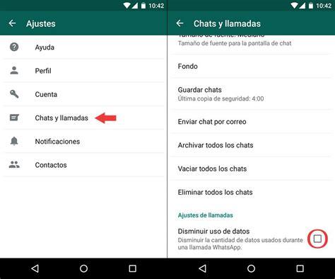 tutorial de uso whatsapp reduce el consumo de datos en las llamadas de whatsapp