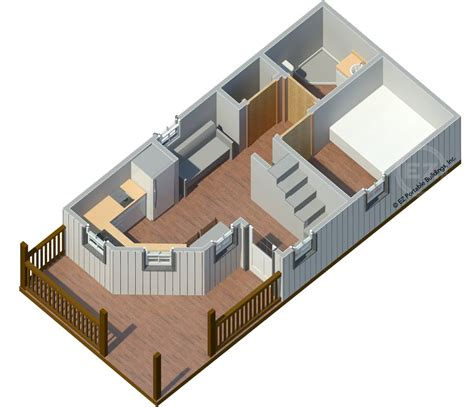 Cabin Floor Plan With Loft by The Magnolia Ez Portable Buildings