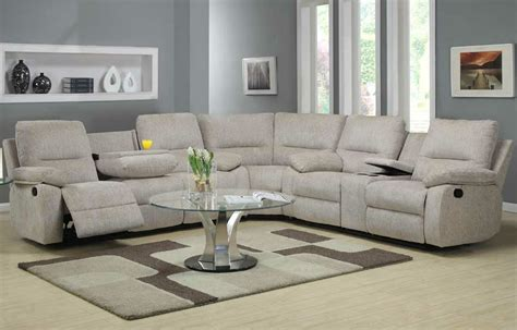 Living Room Reclining Sectionals Homelegance Marianna 3 Sectional In Grey Clearance