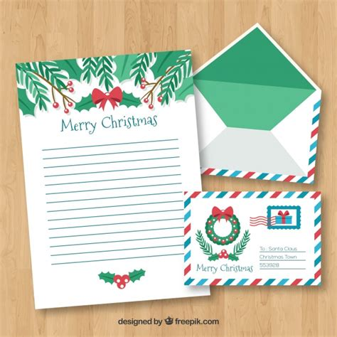 Merry Christmas Letter Template Vector Free Download Merry Letter Template