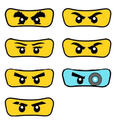 printable lego eyes pack of 7 lego ninjago eyes от partyummy на etsy др