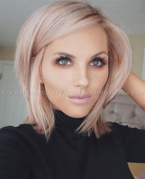 styling an undercut super straight hair medium length medium length hairstyles for straight hair rose gold