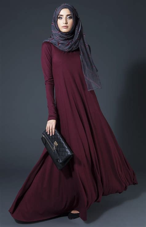 Dress Motif Baju Muslim Maxi Dress Lupita mulberry plum abaya aab quotes beautiful sleeve and abayas