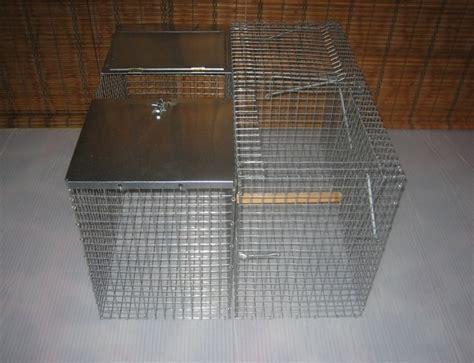 gabbie cattura piccioni gabbia pe rla cattura delle gazze e di corvidi in genere