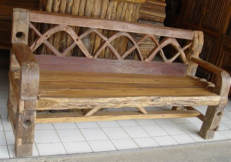 rustic bench with back rustic teak provincial teak teak root furniture from