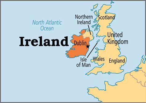 world map with ireland ireland operation world