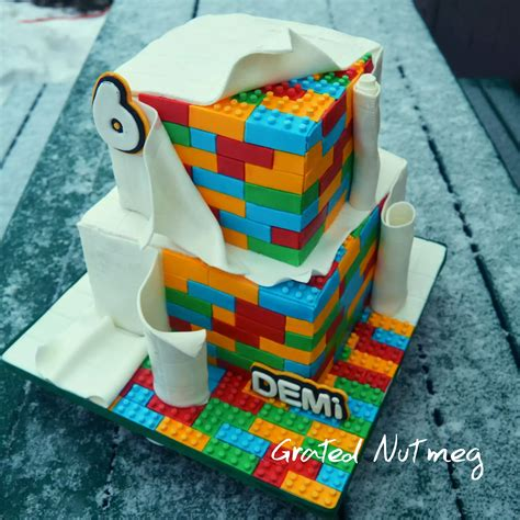 lego ideas tutorial the making of a lego cake grated nutmeg