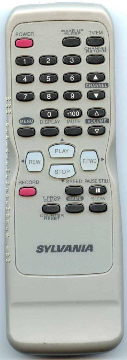 buy sylvania neud tvvcr combo remote control