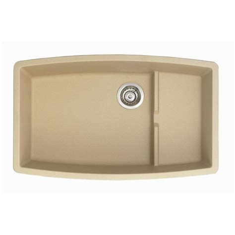 Lowes Undermount Kitchen Sinks Shop Blanco Performa Biscotti Basin Undermount Kitchen Sink At Lowes