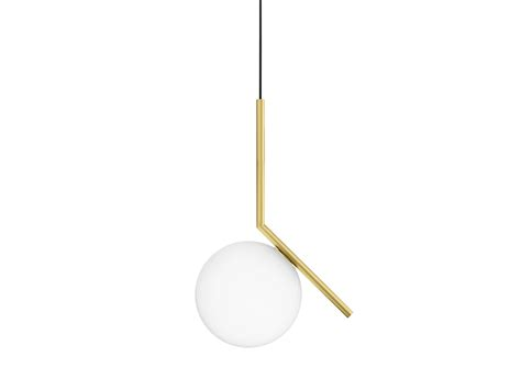 Flos Pendant Lights Brass Pendant L Ic Lights S1 By Flos Design Michael Anastassiades