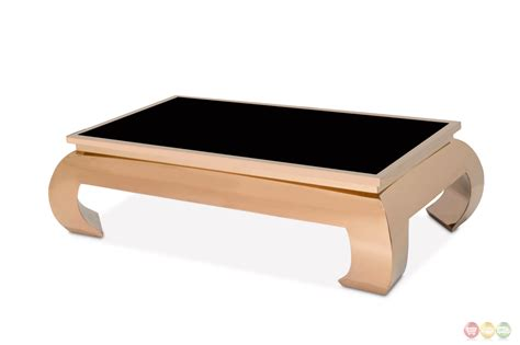 pietro ultra modern coffee table with glass top and