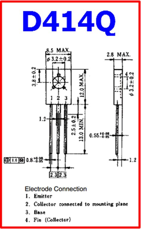 transistor pinout d414q datasheet npn transistor power lifier nec