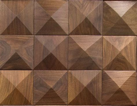 wood as pattern material cuttoffs wood wall panel pyramid pattern tile