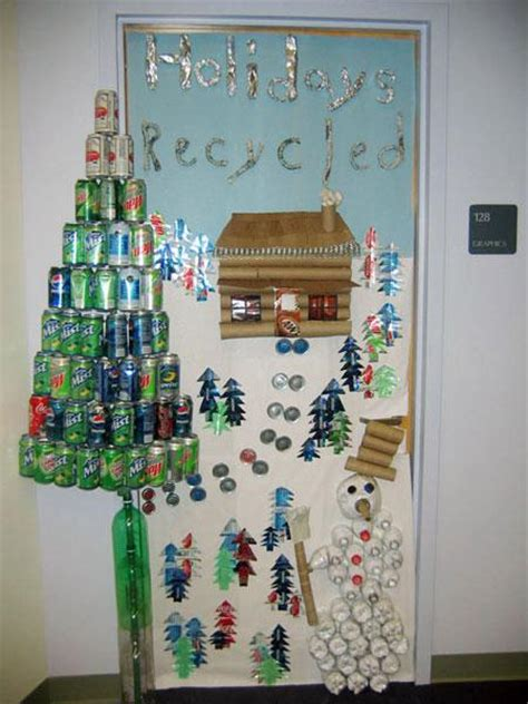 holiday door decorating ideas holidays recycled christmas classroom door decoration