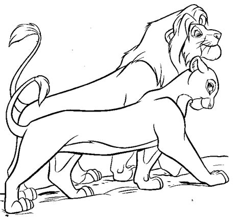 free coloring pages of simba lion king