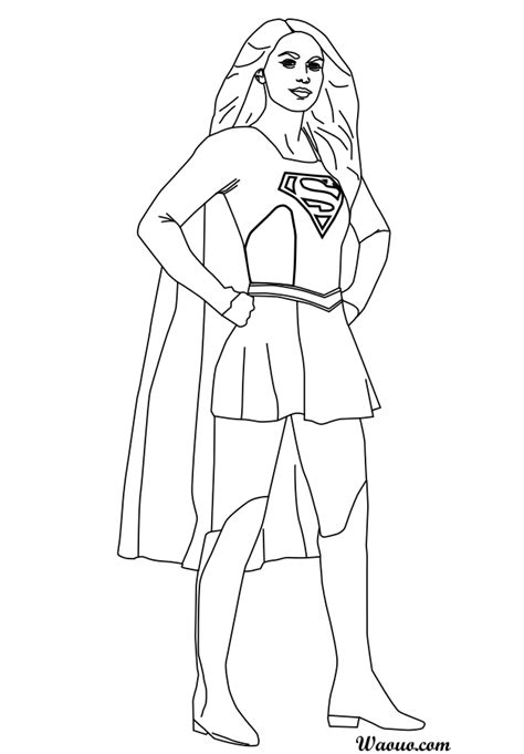 Coloriage Supergirl Melissa Benoist 224 Imprimer Supergirl Coloring Pages For Printable Free