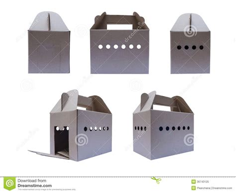 Box Pets cardboard box for carrying small pet royalty free stock photo image 36743125