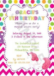 9 best images of free printable unicorn invitations