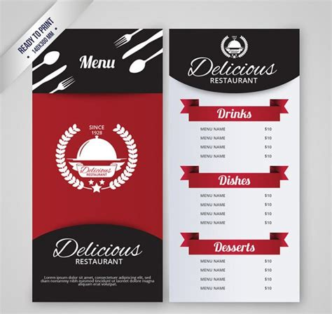 cafe menu design template free download 50 free psd restaurant flyer menu templates