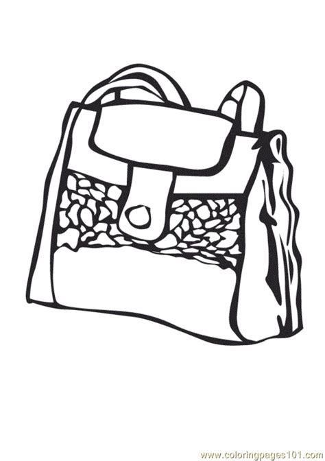purse free coloring pages