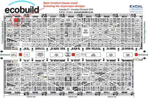 layout of excel london march stb passive skyscraper at ecobuild