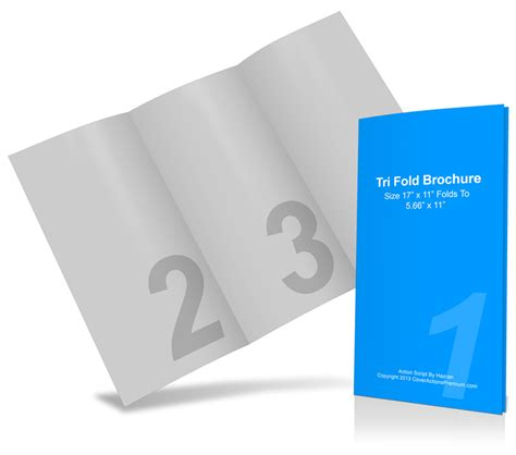 template for 11 x 17 4 fold card 11 x 17 tri fold brochure mockup cover actions premium