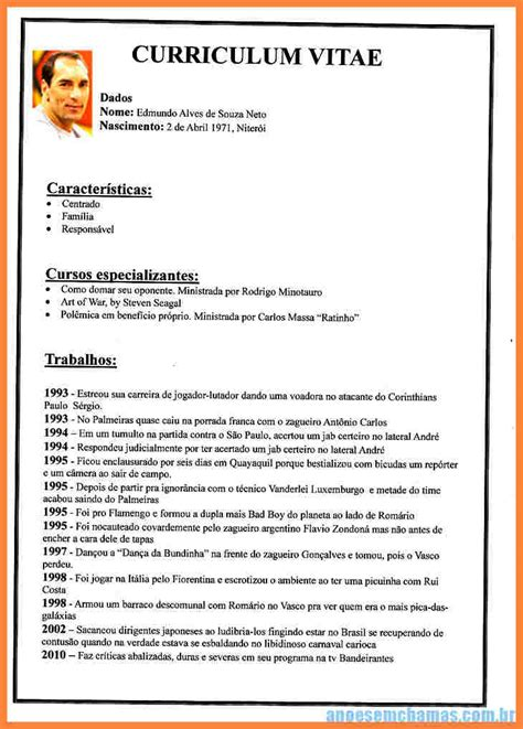 Best Resume Format To Download by 5 Curriculum Vitae Em Portugues Bussines Proposal 2017