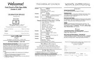 free church bulletin templates best photos of church bulletin templates sle church