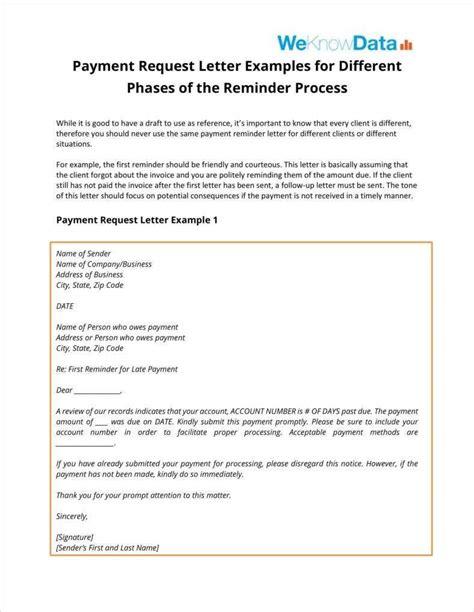 payment follow letter templates
