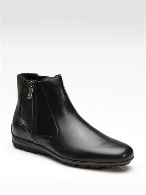 ferragamo cispriano ankle boots in black for lyst