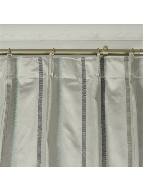 single pleat curtains qyx104aj mirage embroidered striped single pinch pleat