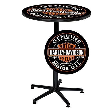 Harley Davidson Table L by Harley Davidson H D Can Cafe Pub Table Shop Your Way