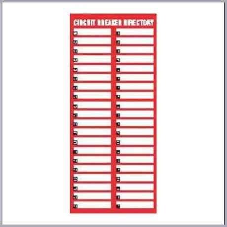 circuit breaker panel labels template letter world