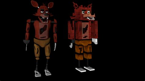 freddys foxy 2 nights at five minecraft five nights at freddy s foxy model